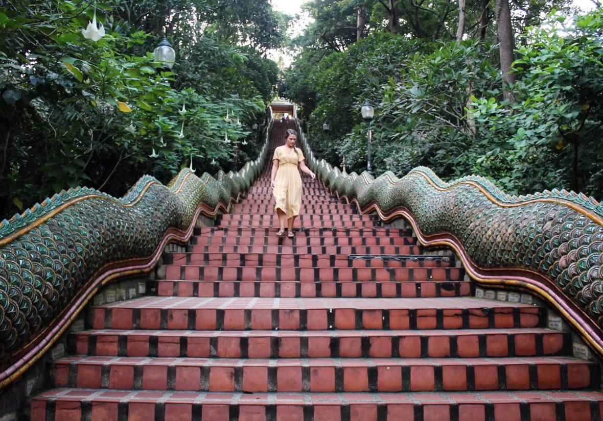 Chiang Mai Naga Staircase